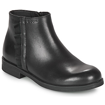 Shoes Girl Mid boots Geox AGGATA Black