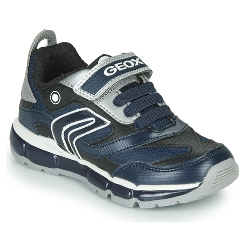 Shoes Boy Low top trainers Geox ANDROID Marine / Silver