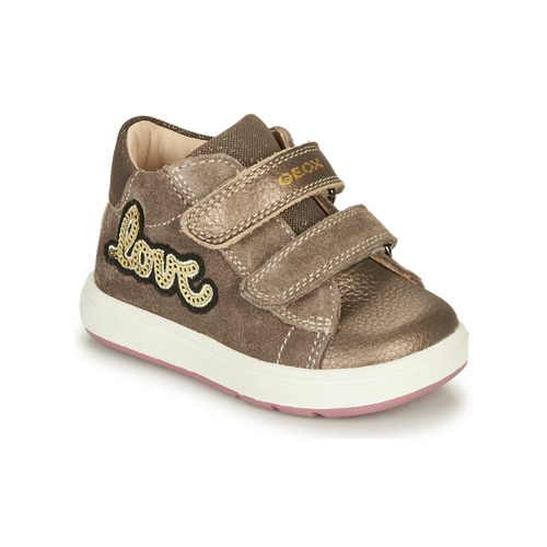 Shoes Girl Mid boots Geox BIGLIA Brown