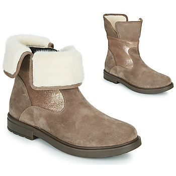 Shoes Girl Mid boots Geox ECLAIR Beige