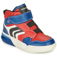Shoes Boy Hi top trainers Geox GRAYJAY Red / Blue