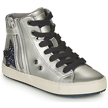 Shoes Girl Hi top trainers Geox KALISPERA Silver