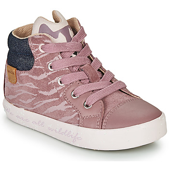 Shoes Girl Hi top trainers Geox KILWI Pink