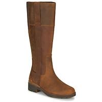 Shoes Women High boots Timberland GRACEYNTALLSIDEZIPWP Brown