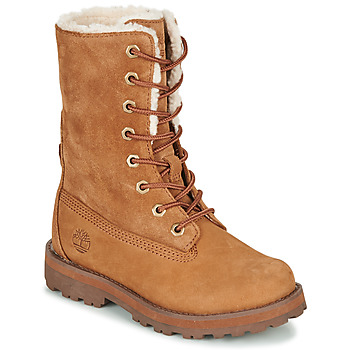 Shoes Children Mid boots Timberland COURMA KID SHRL RT Brown