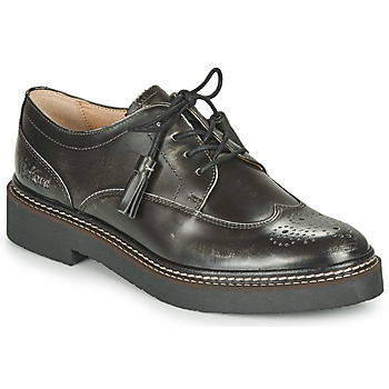 Shoes Women Derby Shoes Kickers OXANYBY Silver / Black