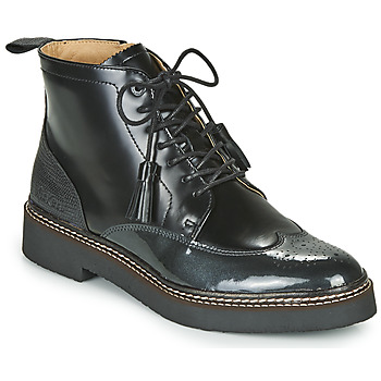 Shoes Women Mid boots Kickers OXANYHIGH Black / Silver
