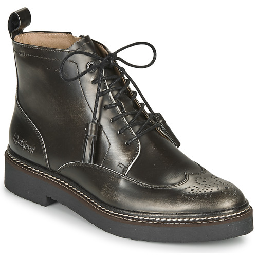 Shoes Women Mid boots Kickers OXANYHIGH Silver / Black