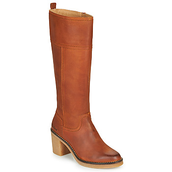 Shoes Women High boots Kickers AVERNO Orange / Camel