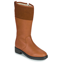 Shoes Women High boots Kickers WATHIGH Camel