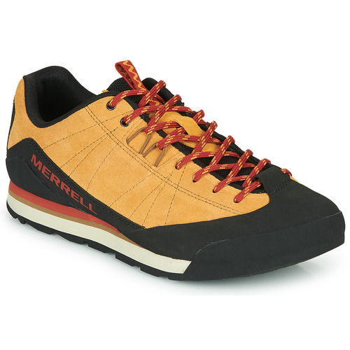 Shoes Men Low top trainers Merrell CATALYST SUEDE Camel / Black