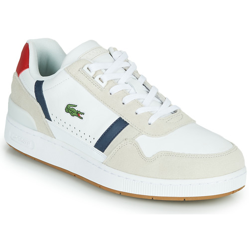 Shoes Men Low top trainers Lacoste T-CLIP 0120 2 SMA White / Marine / Red