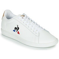 Shoes Men Low top trainers Le Coq Sportif COURTSET White / Cognac