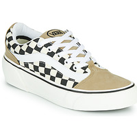 Shoes Women Low top trainers Vans SHAPE NI Beige / White