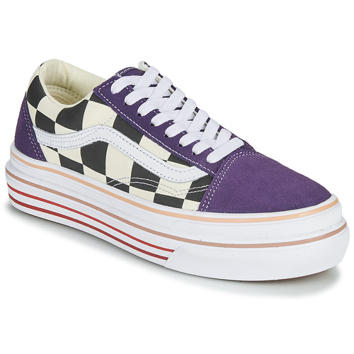 Shoes Women Low top trainers Vans SUPER COMFYCUSH OLD SKOOL Purple