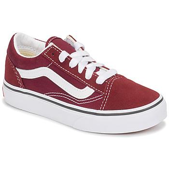 Shoes Children Low top trainers Vans UY OLD SKOOL Bordeaux