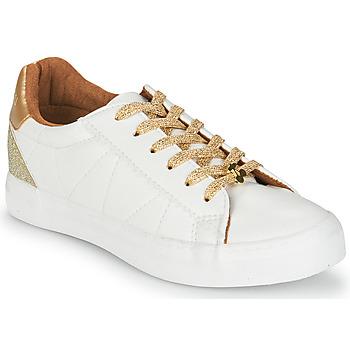 Shoes Women Low top trainers Le Temps des Cerises VIC White / Gold
