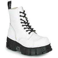 Shoes Mid boots New Rock M-MILI083C-C9 White / Black