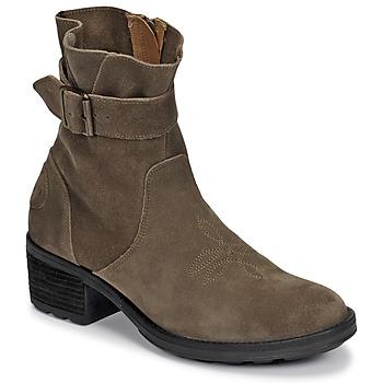 Shoes Women Ankle boots Palladium Manufacture MARGO 04 SUD Kaki