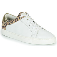 Shoes Women Low top trainers Les Tropéziennes par M Belarbi Louane White / Leopard