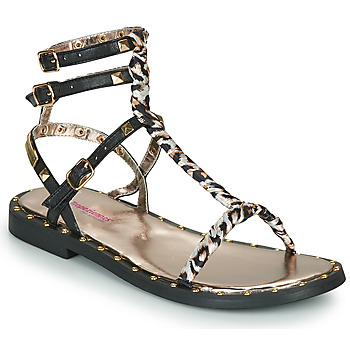 Shoes Women Sandals Les Tropéziennes par M Belarbi Calix Black / Leopard