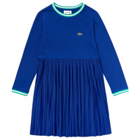 Clothing Girl Short Dresses Lacoste EJ1426-E7T-C Blue