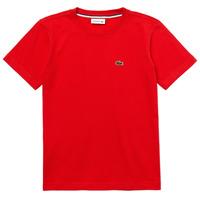 Clothing Boy Short-sleeved t-shirts Lacoste TJ1442-F8M-J Red