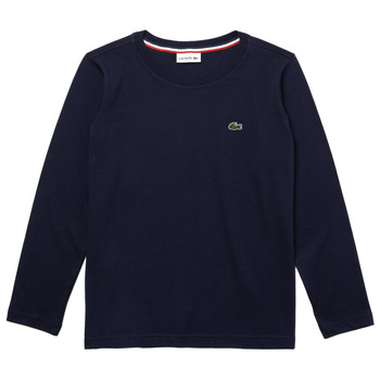 Clothing Boy Long sleeved tee-shirts Lacoste TJ2093-166-J Marine