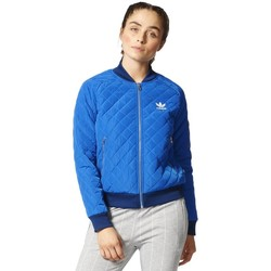 Clothing Women Jackets adidas Originals Originals Quilted Tracktop Bomber Blue