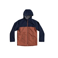 Clothing Boy Jackets Quiksilver WAITING PERIOD Marine / Brown