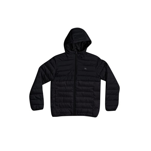 Clothing Boy Jackets Quiksilver SCALY MIX Black / Grey