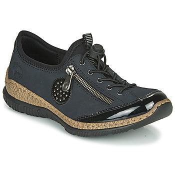 Shoes Women Derby Shoes Rieker N3268-01 Blue / Black