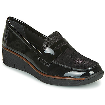 Shoes Women Loafers Rieker 53732-01 Black
