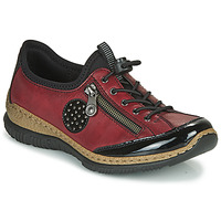 Shoes Women Derby Shoes Rieker N3268-02 Red / Black