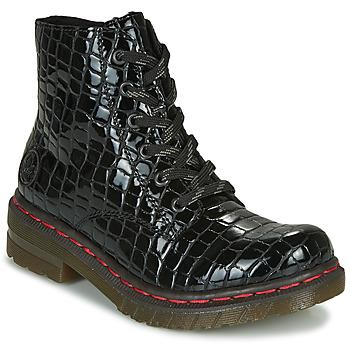 Shoes Women Mid boots Rieker 76246-00 Black