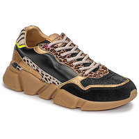 Shoes Women Low top trainers Serafini OREGON Black / Gold