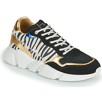 Shoes Women Low top trainers Serafini OREGON Black / White / Gold