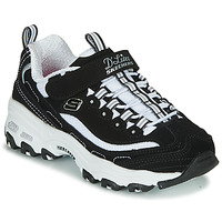 Shoes Girl Low top trainers Skechers D'LITES Black / White