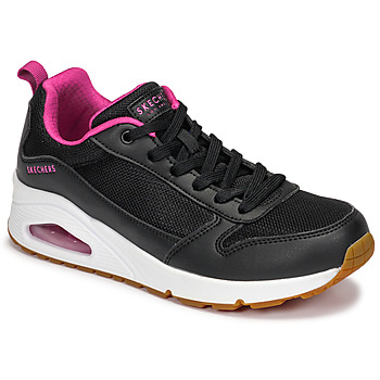 Shoes Women Low top trainers Skechers UNO Black / Pink