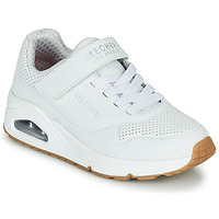 Shoes Children Low top trainers Skechers UNO White