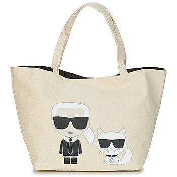 Bags Women Shopping Bags / Baskets Karl Lagerfeld K/IKONIK KARL & CHOUPETTE TOTE Black