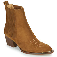 Shoes Women Ankle boots Ikks TIAG SUEDE Brown