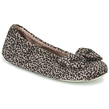 Shoes Women Slippers Isotoner 97209 Leopard