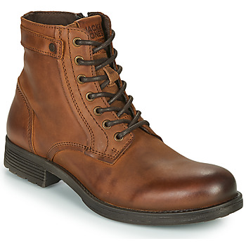 Shoes Men Mid boots Jack & Jones JFW ANGUS LEATHER ACHAT Brown