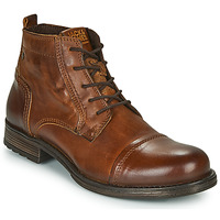 Shoes Men Mid boots Jack & Jones JFW RUSSEL LEATHER MID Cognac