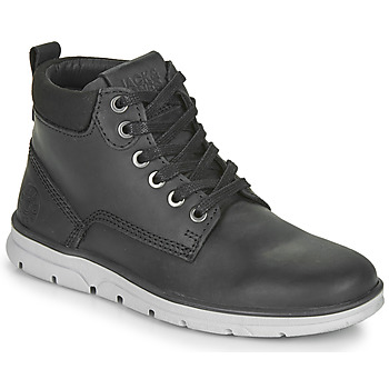 Shoes Boy Mid boots Jack & Jones JR TUBAR LEATHER Black