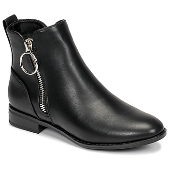 Shoes Women Mid boots Only BOBBY 22 PU ZIP BOOT Black