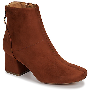 Shoes Women Ankle boots Only BILLIE-1 LIFE MF HEELED BOOT Cognac