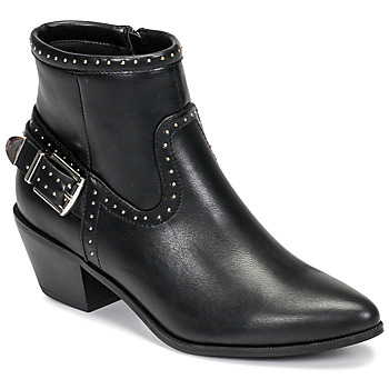 Shoes Women Ankle boots Only TOBIO-7 PU STUD BOOT Black
