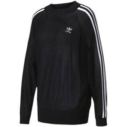 Clothing Women Sweaters adidas Originals Stripes Sweater Black